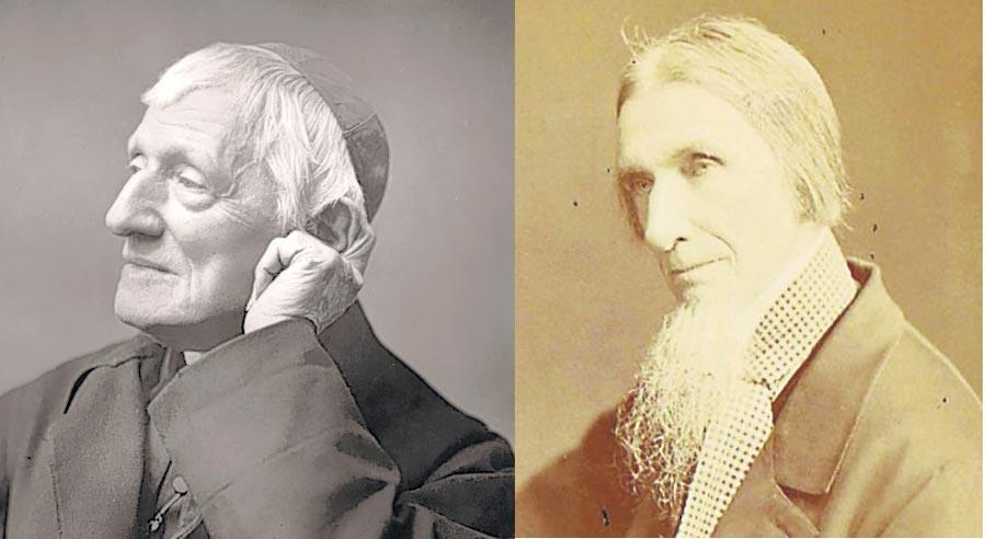 Left, John Henry Newman (1801-90), and his brother, Francis William (1805-97)
