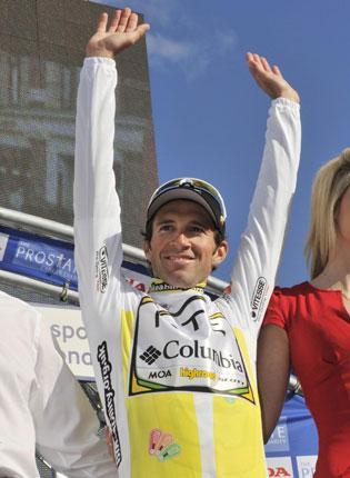 HTC-Columbia rider Michael Albasini won the Tour of Britain on Saturday