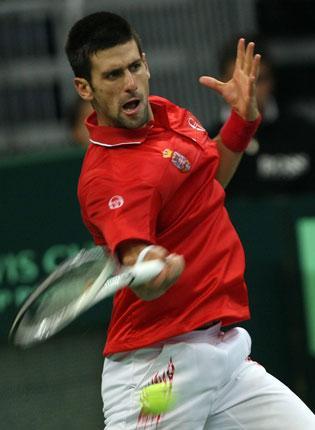 Novak Djokovic overcame an injury scare on his way to victory E