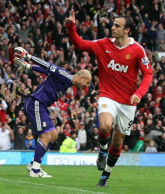 Berbatov socred all three of United's goals