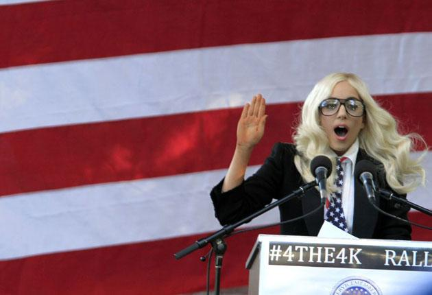 Lady Gaga visited the US state of Maine on the eve of the key Senate vote
