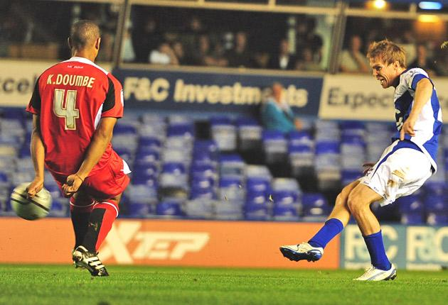 Alexander Hleb's precise finish was his first goal for Birmingham, and first in English football since 2007