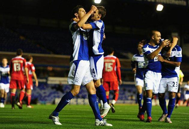 Nikola Zigic scored his first Birmingham goal during Tuesday's 3-1 Carling Cup victory over MK Dons