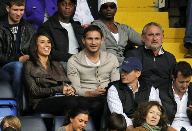 Frank Lampard has been forced to watch Chelsea's recent games from the stands with girlfriend Christine Bleakley