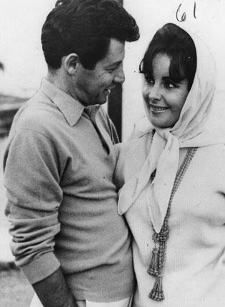 Eddie Fisher with second wife Elizabeth Taylor