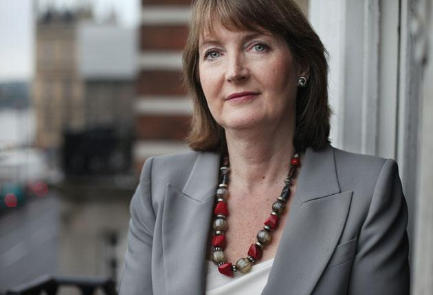 Harriet Harman in the empty office of the Leader of the Opposition at Westminster