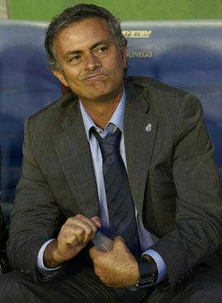 Real Madrid manager Jose Mourinho ponders his side's lack of goals