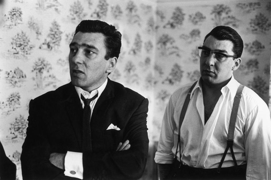 The Kray twins Reggie (L) and Ronnie in August 1966