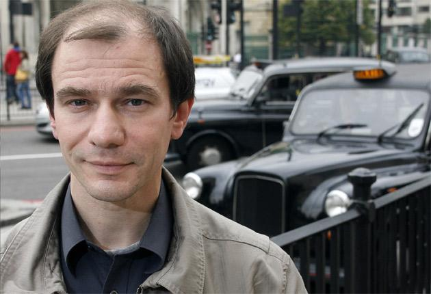 Igor Sutyagin, pictured in London yesterday, fears he will be rearrested if he returns to Russia