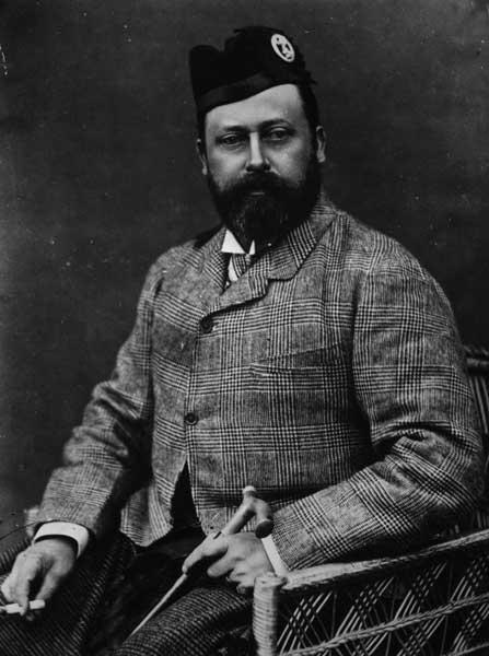 Natty dresser: King Edward VII when he was Prince of Wales in 1880