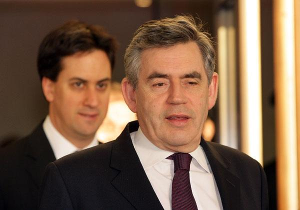 Next in line: Ed Miliband and Gordon Brown