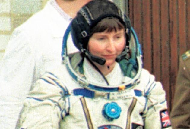 Blast off: The British cosmonaut Helen Sharman prepares for space flight in 1991