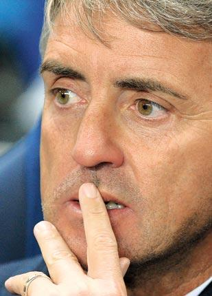 The losses put pressure on Roberto Mancini to achieve a Champions League place