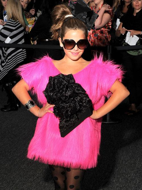 Cecilia Cassini, at the age of 11, is already designing clothes for Miley Cyrus, Heidi Klum and Kelly Osbourne