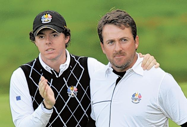 Europe's Rory McIlroy (left) and Graeme McDowell finally came good