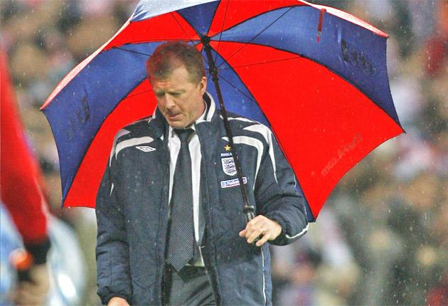 Steve McClaren during his last game in charge of the national side, a 3-2 defeat at home to Croatia