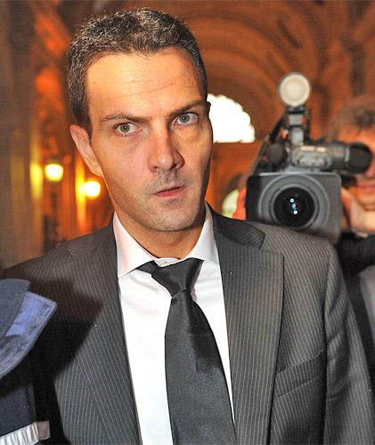 Jérôme Kerviel arriving at court in Paris yesterday. He faces three years in jail over unauthorised trading losses