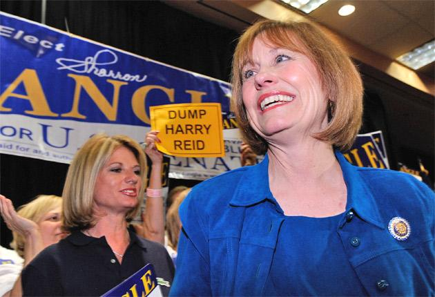 Sharron Angle is keeping a low profile following a series of gaffes ahead of the mid-term election in Nevada next month
