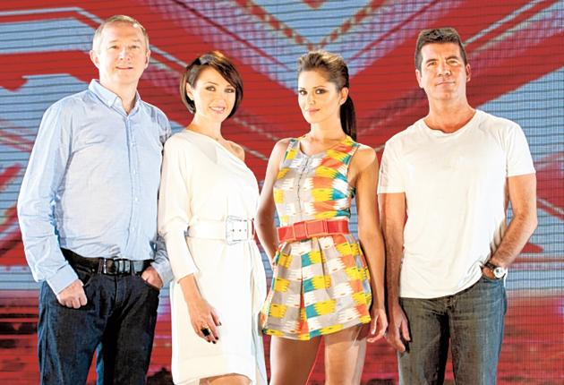 The X Factor, ITV1, Saturdays & Sundays: Louis Walsh, Dannii Minogue, Cheryl Cole and Simon Cowell