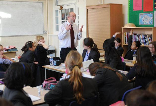 Year 7 pupils at Chelmsford County High. The school is to bar pupils without a language GCSE from their sixth-form