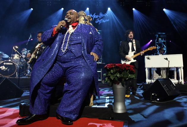 Solomon Burke on stage at the Montreux Jazz Festival