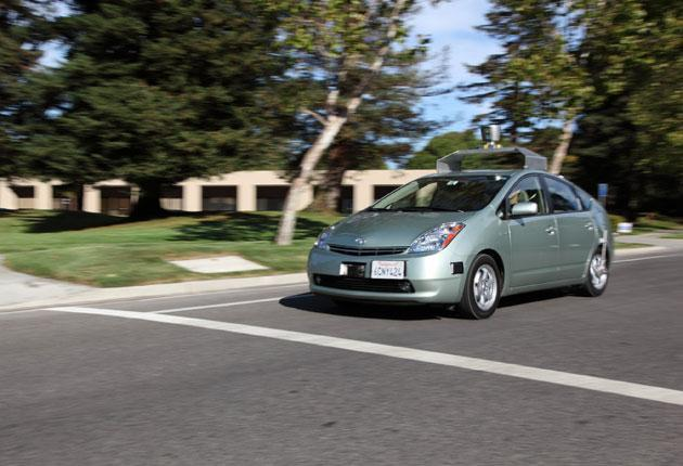 One of Google's self-driving Toyota Priuses