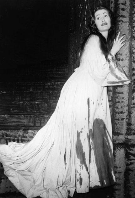 Sutherland in the 1959 production of 'Lucia di Lammermoor' at Covent Garden that launched her international career