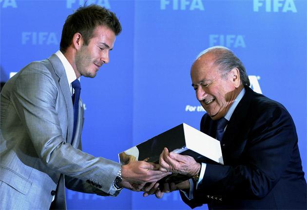 Five months after receiving England's World Cup 2018 bid document from David Beckham, the Fifa president Sepp Blatter will meet David Cameron at Downing Street