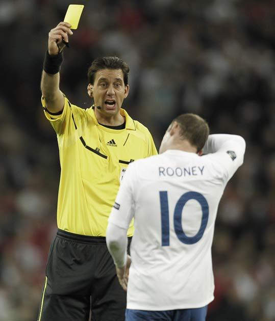 Rooney is booked