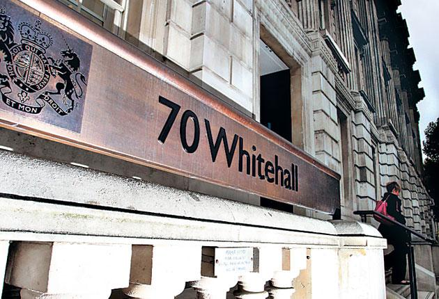 The offices at 70 Whitehall, Westminster, where the Star Chamber wields the axe