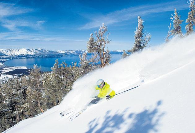 A great place to find yourself: off-piste action at Heavenly
