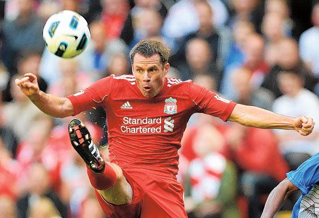 Jamie Carragher, 32, signed a new contract yesterday until the end of the 2012-13 season