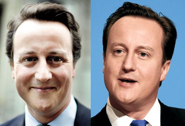 David Cameron before and after his tonsorial makeover by hairdresser to the stars Lino Carbosiero