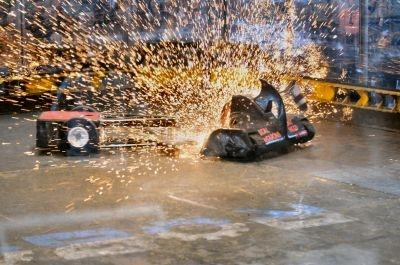 Sparks fly at ComBots Cup, a robot heavyweight world championship for fighting robots