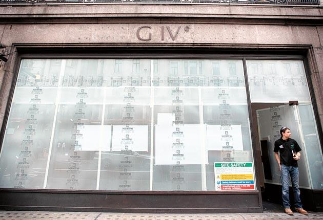 The Give store in Regent Street, London, has closed down