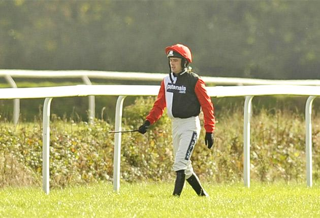 Ruby Walsh following Celestial Halo's fall at Exeter yesterday