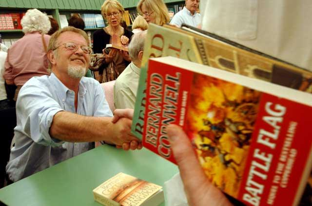 Bernard Cornwell meets his readers at the Hay Festival