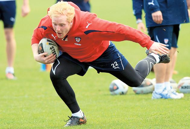 James Graham takes part in an England training session at the Petone Rugby Grounds in Wellington