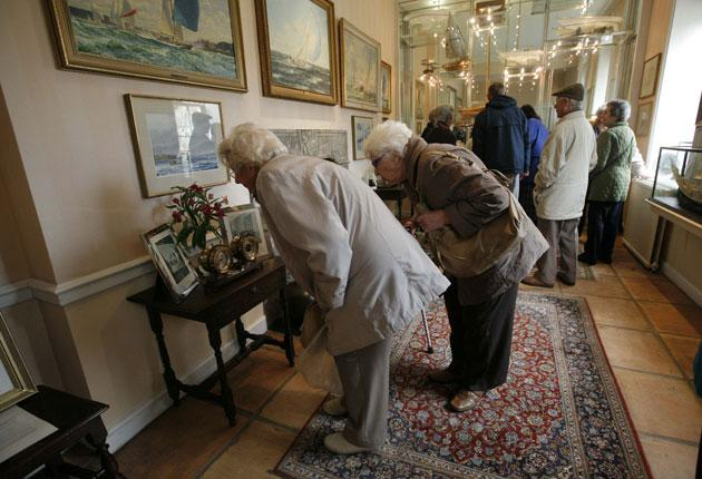 Visitors fortunate enough to gain access to Arundells yesterday, admire Sir Edward Heath's memorabilia