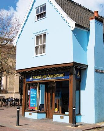 Attractive proposition: a branch of Norwich and Peterborough building society in Bury St Edmunds