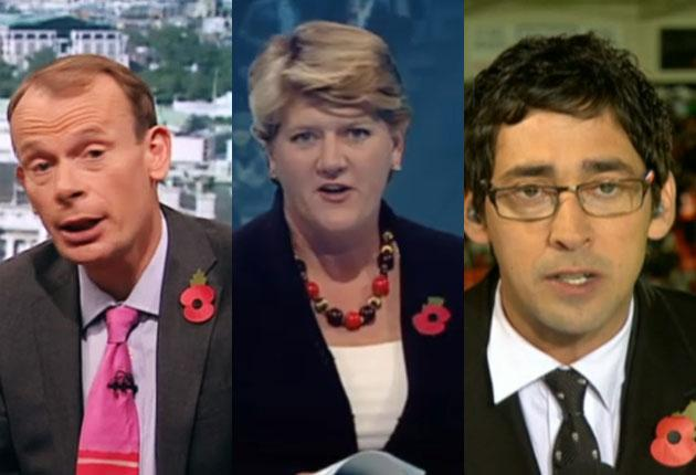 Andrew Marr, Clare Balding and Colin Murray over the weekend