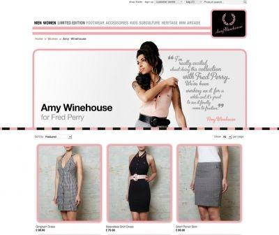 Amy Winehouse collection for Fred Perry on sale now