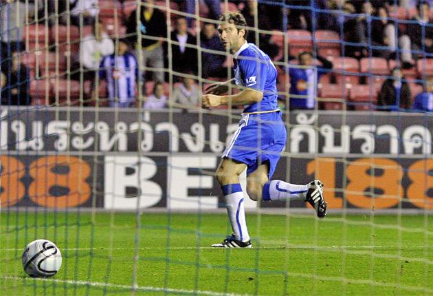 Mauro Boselli scored his first goal for Wigan last night after his £6m transfer from Estudiantes in the summer