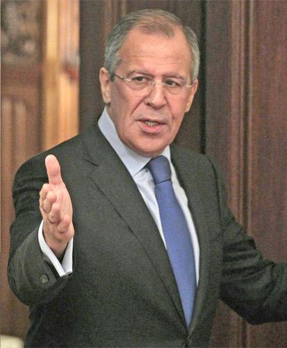 Sergei Lavrov has urged Nato to deploy fewer troops in ex-Warsaw Pact areas