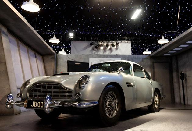 The silver DB5, which was driven by Sir Sean Connery as the super-spy in Goldfinger and Thunderball