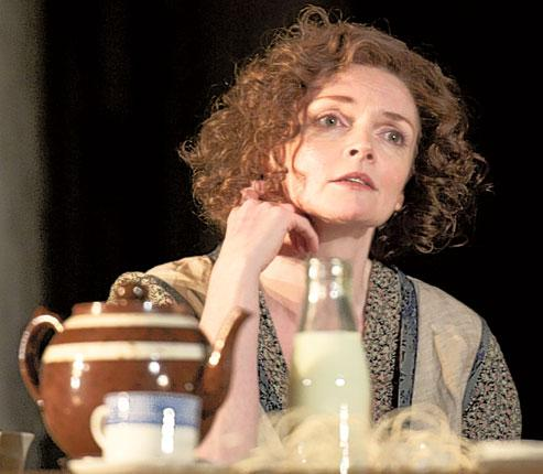 Down to a tea: Sharon Small in 'Men Should Weep'
