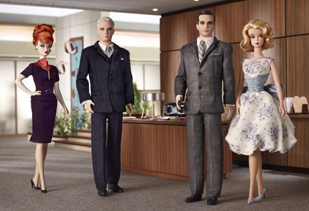 Plastic fantastic: Mattel have created a range of 'Mad Men' Barbie dolls