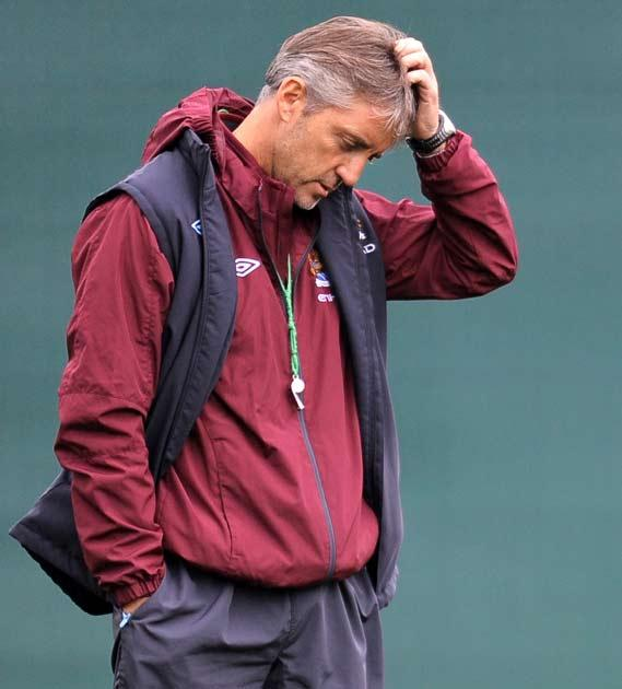 Mancini has seen City lose two games in a row