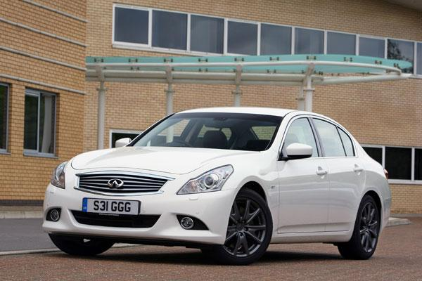 The G37 doesn't really look like most Europeans' notion of a prestige car
