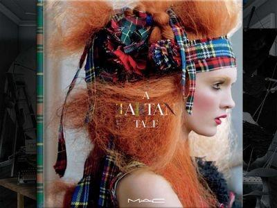 Ad campaign for MAC's Holiday 2010/11 'A Tartan Tale' collection